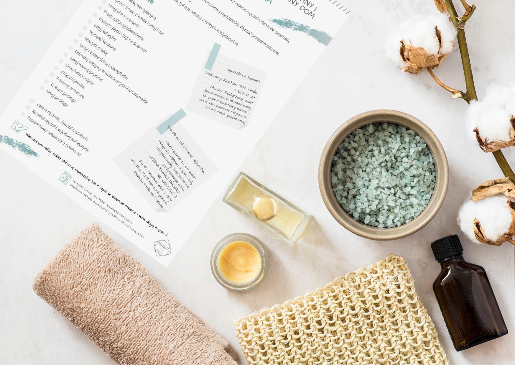 Sprzątanie łazienki. Lista do pobrania