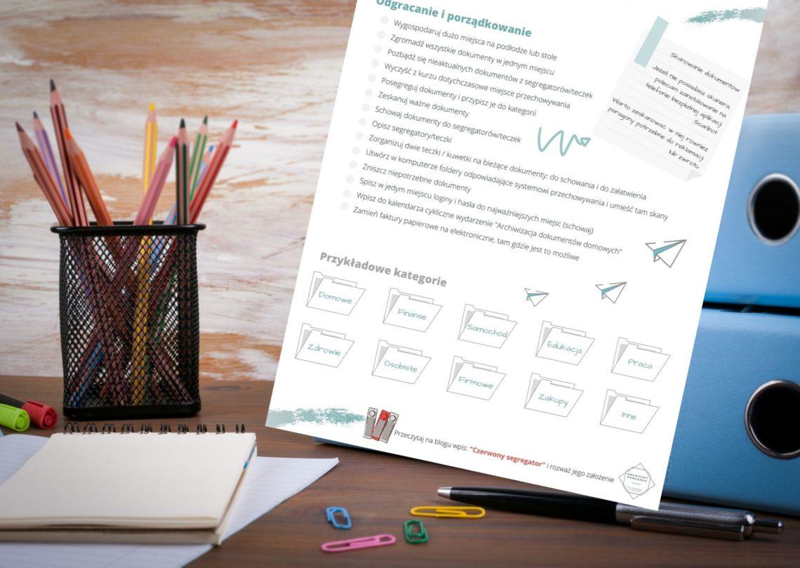 Porządkowanie domowych dokumentów. Lista do pobrania